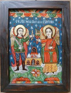Religious Icons, Religious Art, Gabriel, Byzantine Art, Orthodox Icons, Folk Art, Miniatures, Mexican, Christian