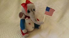 collectible artist elephant thread crochet by SweetHeartThreads, $25.00