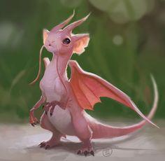 Little Rodent Dragon by David Talaski http://davidtalaskidraws.tumblr.com/post/145358206671/little-dwagon-wanted-something-like-a-dragon