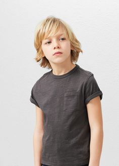 Camiseta algodón bolsillo | MANGO KIDS