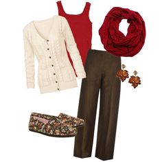 Teacher outfit for fall Lehrer-Outfit für den Herbst – Brown Pants Outfit For Work, Casual Work Outfits, Winter Outfits For Work, Pretty Outfits, Outfit Winter, Casual Pants, Young Teacher Outfits, Winter Teacher Outfits, Teaching Outfits