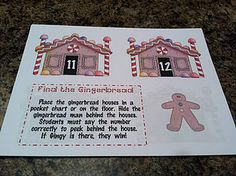Find the Gingerbread Man (print out several houses and one G-man; hide the man; call out number on house; whoever finds man behind house wins) Gingerbread Man Activities, Christmas Activities, Gingerbread Men, Teen Numbers, Math Numbers, Too Cool For School, School Fun, School Stuff, School Ideas