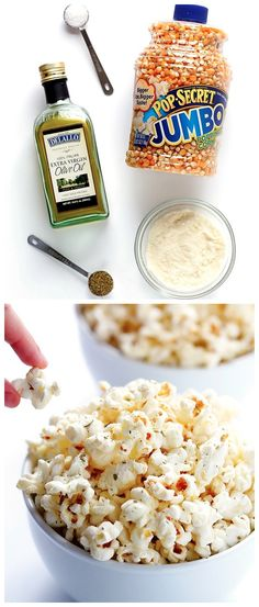 Olive Oil and Parmesan Popcorn Recipe