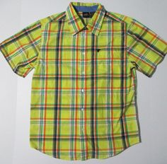 Josh? NWOT Wrangler Boys XXL 18 Yellow Plaid Short Sleeve One Pocket Button Down Shirt #Wrangler