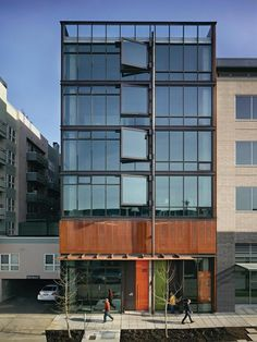 Art Stable, by Olson Kundig Architects, Seattle, Wash. The live/work loft project includes a seven-story building featuring ground-level retail space, second-floor parking, and five stacked residential units.