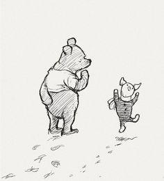 """winnie de poe levenslessen: 1. Knorretje: """"Hoe spel je 'liefde'?"""" Winnie de Poe: """"Je kunt het niet spellen, alleen voelen!"""""""