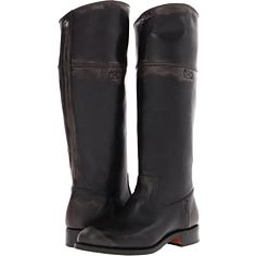 Frye Jet Boot Riding Charcoal Brush Off - Zappos
