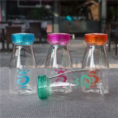 Water Bottle 400 0ml Children Water Cup Drinking For Water Bottles Portable Cartoon Sport Plastic Words Cup