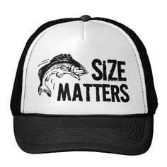 Funny Fishing Design Mesh Hats: When it comes to catching fish, size definately matters! This humorous sportfishing design features large text and a jumbo jumping fish graphic, sure to be a huge hit for fishing men and women after a big one! Presents For Men, Gifts For Him, Fish Graphic, Funny Hats, Fish Man, Custom Big Rigs, Size Matters, Fishing Humor, Fishing Hats