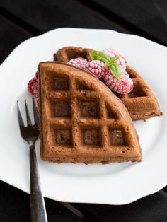 Chocolate Waffles Recipe-, brownies in a form of a waffle, for breakfast??!!! I call this a winner of all recipes
