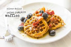 SILVER DOLLAR PUMPKIN BACON WAFFLES (PALEO! GLUTEN-FREE!) — Cheeky Kitchen