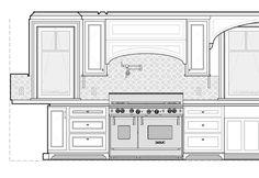 Recent work Living Room Elevation, Kitchen Elevation, Home Decor Kitchen, Interior Design Kitchen, Drawing House Plans, Elevation Drawing, Construction Documents, Drawing Interior, Model House Plan