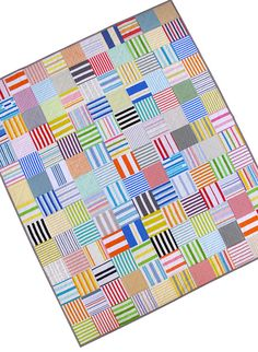 Red Pepper Quilts: A Custom Quilt - More stripes!
