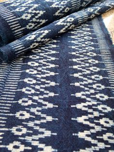 Batik cotton fabrics Indigo Blue Hmong textiles Table by dellshop