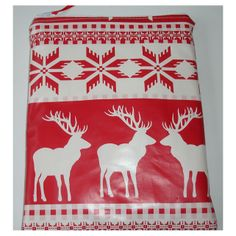 Tablet of Kindle Fire Sleeve Case Cover Red White Nordic Reindeer Christmas PVC £10.00