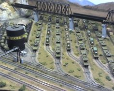 N scale at model railroad show
