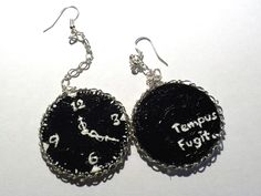 #painted #earrings  Black Rose's Handmade Things #handmade, #jewellery #unique #art