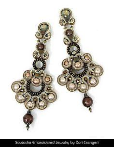 Soutache Embroidered Jewelry by Dori Csengeri - Audrey http://doricsengeri.com/