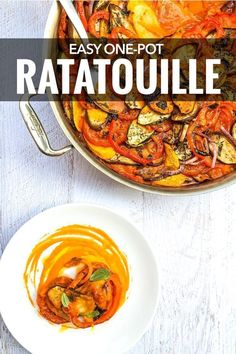 So so easy to make!! >> A classic French dish, this easy ratatouille recipe is perfect with summer vegetables but also comforting in winter. #FrenchCooking  #OnePotMeal #GlutenFree #NoCarbs  http://www.baconismagic.ca