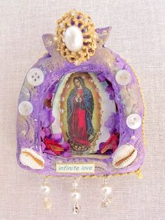 Infinite Love Guadalupe portable shrine by SacredArtsbyLeslie, $24.00