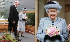 The Queen, who is currently in residence at Balmoral Castle, in Aberdeenshire, looked radiant as she was given a tour of the plot by Reverend James Falconer.