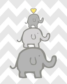 Elephant Nursery Decor Elephant Nursery Art Yellow and Grey Nursery Elephant Nursery Set of 4 Yellow Grey Elephant Nursery Decor, Nursery Prints, Wall Art Prints, Pink And Gray Nursery, Elephant Family, Grey Elephant, Art Mural, Baby Room, Vibrant Colors