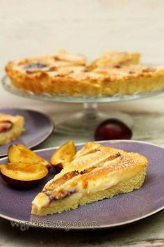 tarta ze śliwkami i kremem French Toast, Pie, Sweets, Breakfast, Blog, Tarts, Pinkie Pie, Sweet Pastries, Pastel