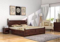 Don't let that under-bed space go waste! Add more functionality & style your Bedroom with Woodenstreet's multi-purpose elegant that comes with storage Wooden Street, Bedroom Furniture Design, Under Bed, Queen Size Bedding, Walnut Finish, Bed Storage, Home Decor Kitchen, King Size, Beds