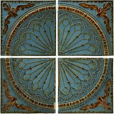 Set of 4 Venice Royal Viscounte Medallion Wall Panels