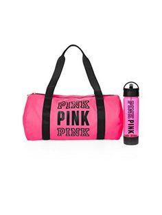 Victoria s Secret PINK Friday Duffle  amp  Campus Water Bottle Duo Neon Hot  Pink Victoria s Secret 503312ee9f9df