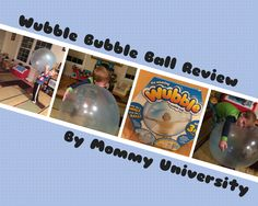 Play and Grow with Wubble Bubble Ball a review by Mommy University at www.mommyuniversitynj.com #toyreview #mommyuniversity #learningthroughplay