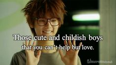 Those cute and childish boys that you can't help but love.....Heartstrings/ You've Fallen For Me. So adorable!