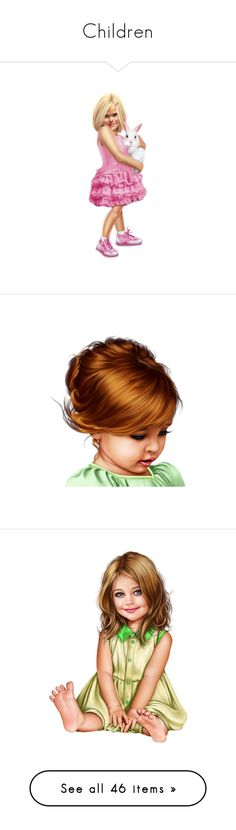 """Children"" by quicherz ❤ liked on Polyvore featuring people, dolls, children, tubes, women, swings, ladies, kids, vintage children and art"