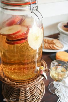 You could use Mountain Valley for the Sparkling Cider Recipe, Fall Party Food…
