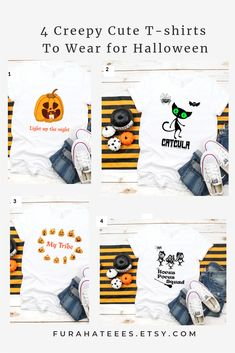 Unique designs for Halloween to wear and show your unique quircky style. Halloween Season, Cute Halloween, Halloween Shirt, Creepy Cute, Scary, Make Yourself Halloween Costumes, Cute Tshirts, Funny Humor, Make You Smile