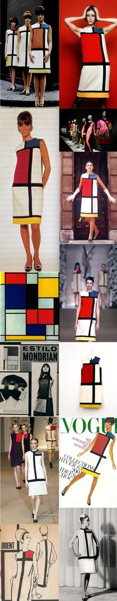 Yves Saint Laurent, Piet Mondrian dress 1965 at Srta. Mondrian Dress, Piet Mondrian, 1960s Mod Fashion, Sixties Fashion, All Fashion, Fashion Pictures, Summer Clothes, Summer Outfits, 20th Century Fashion