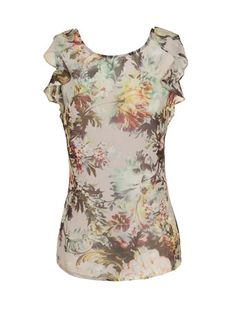 Floral print chiffon top - Going Out Tops - Tops & T-Shirts  - Clothing