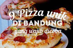 Siapa ayoo yang suka makan pizza? Udah pernah coba belum pizza dengan bentuk dan modifikasi yang unik? Di sini kita mau menghadirkan 9 pizza unik di Bandung