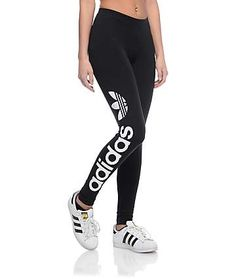 d934d22c37027d adidas Linear Logo Black Leggings Black Leggings