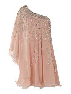 Forever Unique One shoulder glitter dress