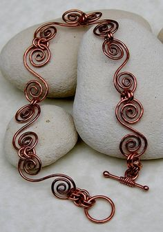 Inspiration: Copper swirls bracelet