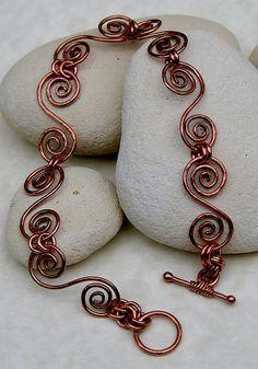 Inspiration: Copper swirls bracelet