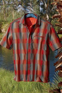 Ombre Mas Bueno Plaid Shirt: Exceptional Casual Clothing for Men & Women from #TerritoryAhead $45.50
