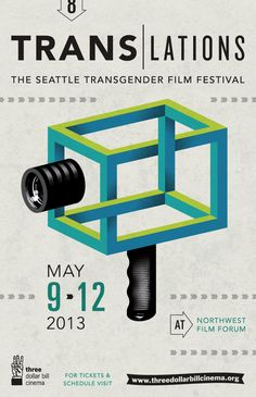 Poster art for Translations; the Seattle Transgender Film Festival by Corianton Hale Graphic Design Posters, Graphic Design Typography, Graphic Design Inspiration, Branding Design, Poster Designs, Flyer Design, Festival Posters, Film Festival, Design Art