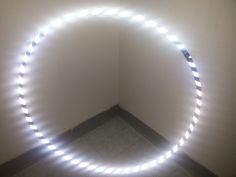"""42"""" 3/4 HDPE Highly Reflective Zebra Striped PerformanceTaped Practice Hula Hoop. 42"""" Outside Diameter. Made with 3/4"""" HDPE Material. Taped with Silver High Intensity Reflective Tape and your choose of 1"""" gaffers tape - Message us with the color or we will pick black. Snap Button connector so you can double coil for travel. This is not an LED Hoop - This is reflective tape - Photos were taken with a smart phone with the flash on."""