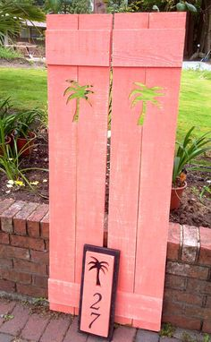 Shutter Exterior Interior ONE Wood Wooden Beach Cottage Lake House Shutter - 40 Inches by CastawaysHall