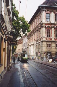 Graz, AUSTRIA, main shopping strip