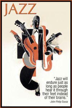 Buyenlarge 22267-0P2030 Jazz 20x30 poster