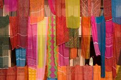 Courtyard Saris, India 10x7 Fine Art Photo. Colorful saris are draped in a courtyard in preparation for a wedding in Mathura, India.http://www.etsy.com/shop/jonathankingston