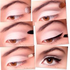 Jemné líčení pro hnědé oči, pro holky co se nechcou ( neumí) moc malovat je tohle idealní kombinace. :)